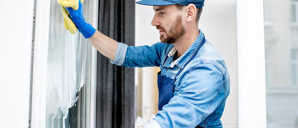 tradesman conducting work on a building site