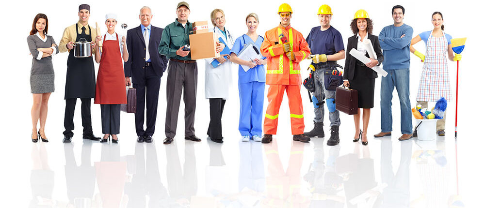 group of tradesman and service contractors